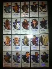 Dr Who TOPPS 2016 Tenth Doctor WIDEVISION Auto Card LOT OF 20 Signature Rare