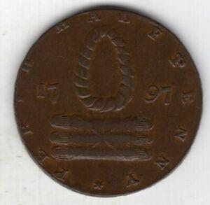 1797 British Provincial Perthshire, Perth Half Penny Conder Token, D&H 9, Scarce