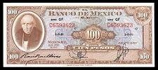 El Banco de Mexico 100 Pesos 19.06.1957 Serie GF. P-55f AU