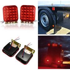 """2X 4.5"""" Red LED Tail Light Kit for Car Boat Truck Trailer Brake Turn Signal Lamp"""