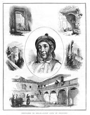 SPAIN Gipsy Life in Granada - Antique Print 1872