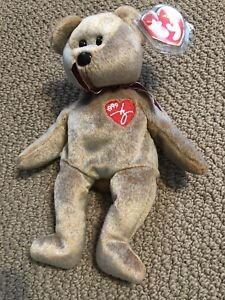 Ty Beanie Baby 1999 Signature Bear Mint With Mint Tags