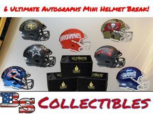 NEW ENGLAND PATRIOTS 6 Ultimate Autographs Mini Helmets Break