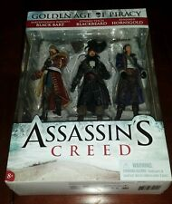 "Assassin's Creed Golden Age of Piracy - Pirate 3-pack 6 "" Action Figures NISB!!!"