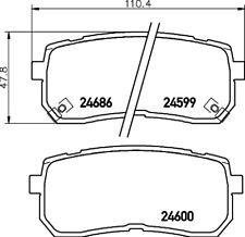 Mintex Posteriore Set Pastiglie dei Freni MDB2922-Vera Nuovo di zecca - - 5 anni di garanzia