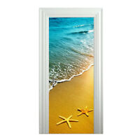 Door Sticker New 3D DIY PVC Waterproof  Door Wall Mural Eiffel Tower qd044