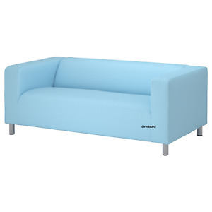 New Ikea Klippan Loveseat Couch Slipcover 2 seat Sofa Cover Vissle Light Blue