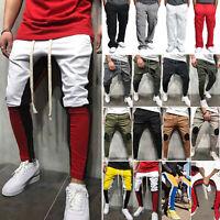 Men Joggers Pants Hip Hop Elastic Casual Sports Slim Fit Trousers Sweat Pants