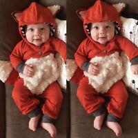 Winter Newborn Infant Baby Girl Boy 3D Cartoon Cute Comfy Romper Jumpsuit Outfit