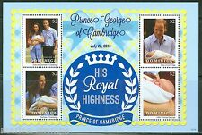 DOMINICA 2013 THE BIRTH OF PRINCE GEORGE SHEET WITH KATE & WILLIAM  MINT NH