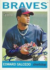 Edward Salcedo Atlanta Braves 2013 Topps Heritage Signed Card