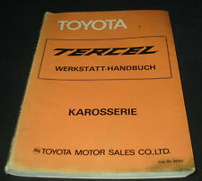 Werkstatthandbuch Karosserie Toyota Tercel Typ AL11 von 1981 Reparaturanleitung