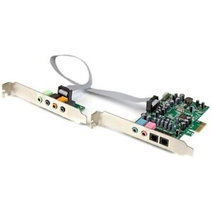 Startech 7.1 Channel Sound Card - PCI Express - 24-bit - 192KHz
