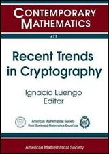 Recent Trends in Cryptography: Uimp-rsme Santalo Summer School July 11-ExLibrary