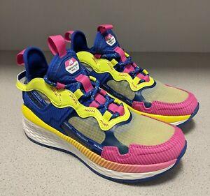 New Balance Test Run Project 2.0 Sneakers Women Size 9 Running Blue Yellow Pink