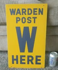 Cold war Warden Metal Sign