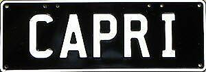 Ford Capri MK 1 2 3 x GP1 280 Number Plates Licence Vanity Sign license plate