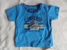 Converse Baby Blue Short Sleeve T-Shirt 100% Cotton Size 6-9 Months