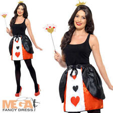 Queen of Hearts Kit Ladies Fancy Dress World Book Day Adults Womens Costume Set