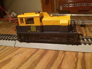 Vintage HO AHM Santa Fe Plymouth Industrial Switcher  MDT Diesel  Running  j582e