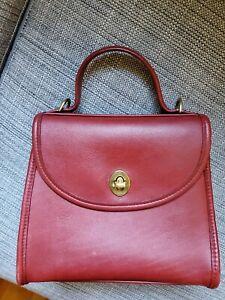 Vintage Coach REGINA BAG CROSSBODY Red Leather