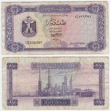 Libya P 34 b - 1/2 Dinar 1972 - Fine+