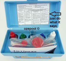 4in1 DIY Pool & Spa Professional TEST KIT, PH, Chlorine & Bromine, TA, EASY AS!