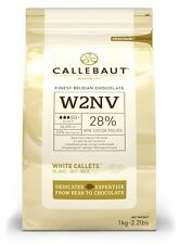 Callebaut White Chocolate Chips 1kg for baking, cooking, fountains W2NV