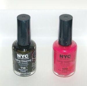 NYC New York Color Long Wearing Nail Enamel Lacquer Polish Creme   Choose Shade