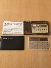VINTAGE HIGH POWER CASIO SL-750 CREDIT CARD SOLAR POWER  CALCULATOR 1970S-1980S