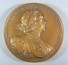 Große Bronze Medaille - Zar Peter der Erste - Russland