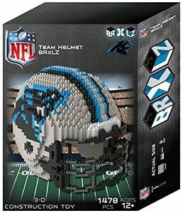 Carolina Panthers BRXLZ Team Helmet 3-D Puzzle Construction Toy New 1478 Pieces