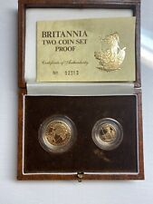 BRITANNIA GOLD TWO COIN PROOF SET 1987 BRITISH ROYAL MINT VERY RARE SET