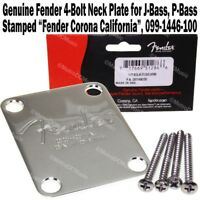 Genuine Fender 4-Bolt Neck Plate Chrome for American Precision Jazz Bass J P NEW