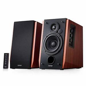 -GB- Edifier R1700BT Braun 2.0 Studio Lautsprecher BT Bluetooth PC Musikkanlage