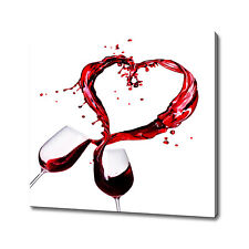 Wine splash hearts canvas print picture wall art home decor free fast delivery