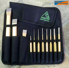 Rennsteig 11 Piece Punch & Chisel Set in Tool Roll - Quality German Made   RCP11