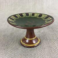 Miniatura Torta Stand Piastra Taza Piatto Bulgaro Vintage Troyan Ware Ceramiche