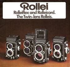 1976 ROLLEI ROLLEIFLEX & ROLLEICORD TWIN REFLEX CAMERA BROCHURE -ROLLEI