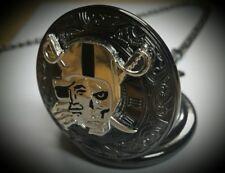 Vintage Style Pocket Watch Custom Raider skull