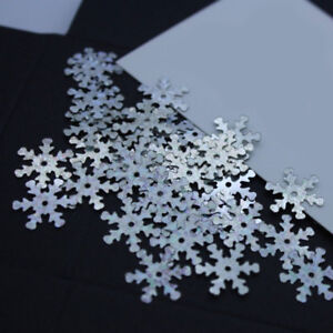 Snowflake Holographic Silver Loose Sequins Sewing Wedding Craft