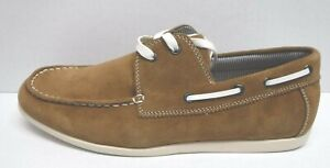 Steve Madden Size 7.5 Brown Leather Boat Shoes New Mens Loafers