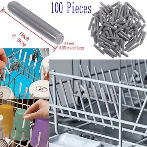 100 PC Dishwasher Plastic heat-resistant Tip Tine Cover Cap compatible with Neff