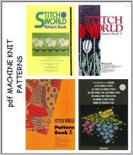 Brother Stitchworld Electronic Knitting Machine Pattern Books plus DAK on DVD