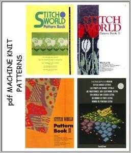 Brother Stitchworld Electronic Knitting Machine Pattern Books plus DAK on CD