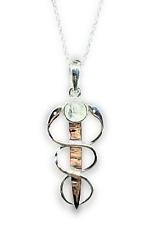 More details for moonstone pendant snakes hermes caduceus rainbow 18