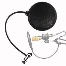 Studio Microphone Mic Wind Screen Pop Filter Mask Shied for Speaking Black