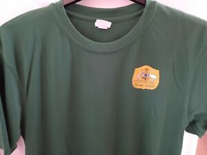 Australia Socceroos Football Shirt/Top Adults Large Bottle Green