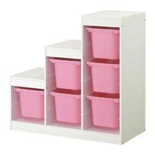 IKEA Trofast Storage Combination Boxes Organizing Toys White Pink 898.575.41