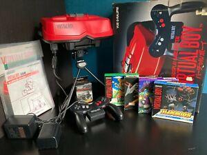 Nintendo - Virtual Boy - JAP - Box / Notice + 4 Jeux - VUE-S-RA
